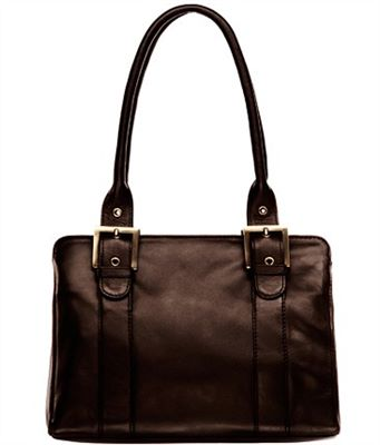 Classic Ladies Leather Zip Top Bag (LBS065)
