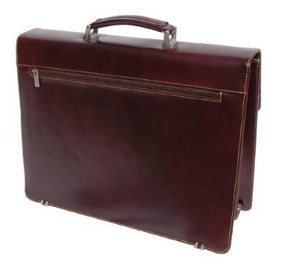 Leather Briefcase with Detachable Laptop Sleeve (LBS023)