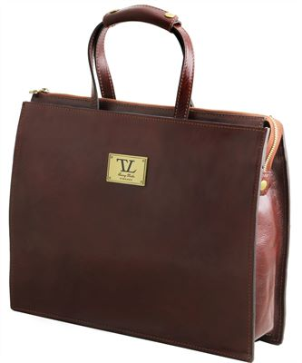 'Palermo' Handmade Italian Leather Briefcase by Tuscany Leather (LBS918)