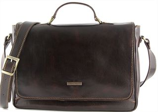'Padova' Italian Handmade Leather Laptop Briefcase by Tuscany Leather (LBS951)
