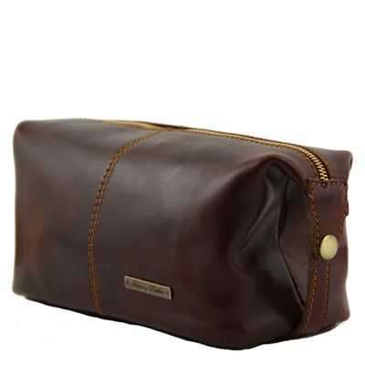 Handmade Italian Leather Wash Bag (LBS953)
