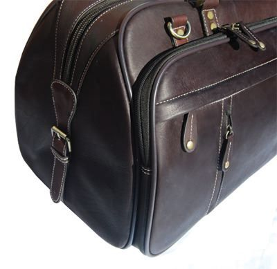 Handmade Colombian Leather Holdall (LBS961)