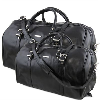 The 'Berlin' Leather Holdall Set by Tuscany Leather (LBS108)