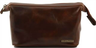 Handmade Italian Leather Wash Bag by Tuscany Leather(LBS518)
