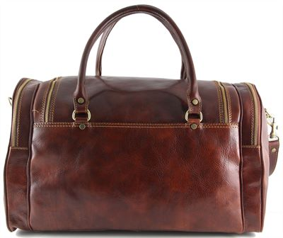 The Prague Handmade Italian Leather Holdall By Tuscany