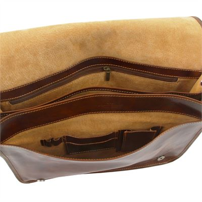 Italian Handmade Leather Messenger Bag by Tuscany Leather (LBS546)