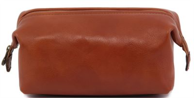 Handmade Small Italian Leather Wash Bag (LBS553)