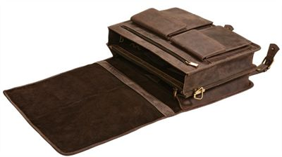 Double Buckle Flapover Briefcase (LBS563)