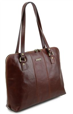 'Ravenna' Italian Leather Ladies Business Bag by Tuscany Leather (LBS123)