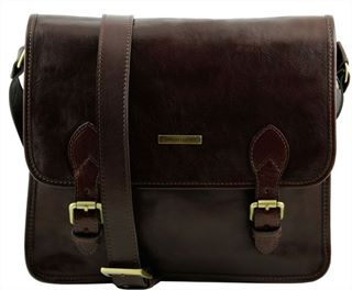 'Postina' Handmade Italian Leather Messenger Bag by Tuscany Leather (LBS585)