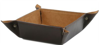 Handmade Italian Leather Tidy Tray by Tuscany Leather (LBS591)