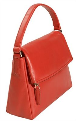 Flapover Top Ladies Bag in Soft Leather (LBS598)