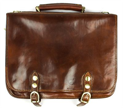 'Carlino' Handmade Italian Leather Messenger Briefcase (LBS122)