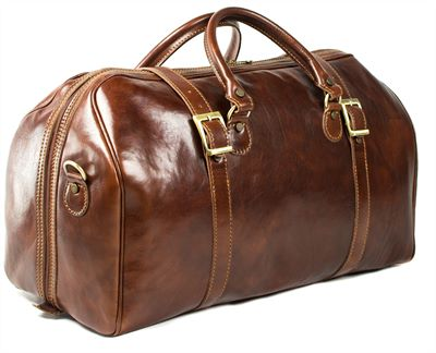 'Martello' Large Handmade Italian Leather Holdall (LBS606)