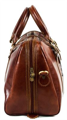 'Fabrini' Medium sized Handmade Italian Leather Holdall (LBS607)