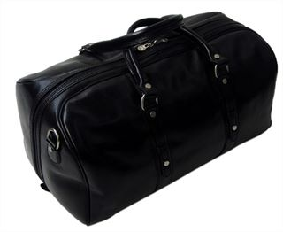 'Lucano' Handmade Italian Leather Holdall - Large Size (LBS611)