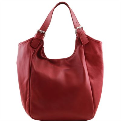 Soft Italian Leather Shopper (LBS622)