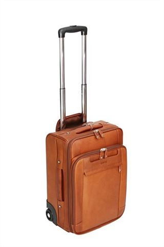 Multi Section Leather Trolley Case (LBS623)