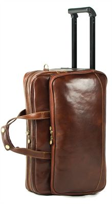 'Potenza'  Medium Size Handmade Italian Leather Trolley Bag (LBS628)