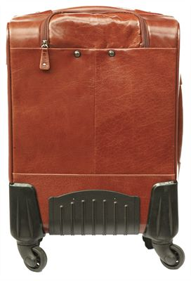 Leather Carry-On Case with 4 Wheels (LBS632)
