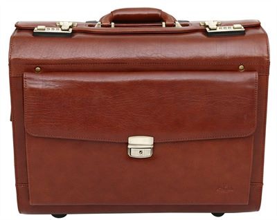 Premium Italian  Leather Pilot Case (LBS641)
