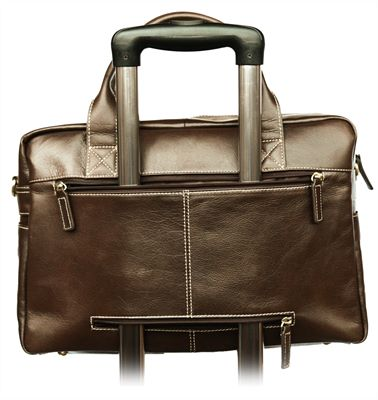 Multi Pocket Leather Laptop Case (LBS645)