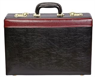 Expanding Attache Case in Faux Leather (LBS651)