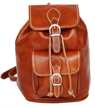'Santo' Italian Top Grain Leather Backpack (LBS658)