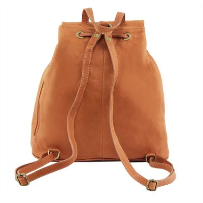 Soft Italian Leather Backpack (LBS659)