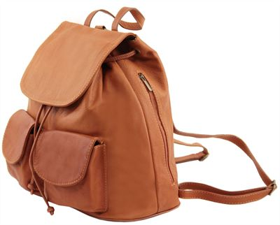 Soft Italian Leather Backpack (LBS660)
