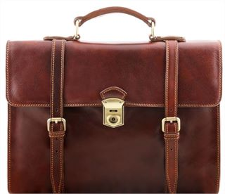 Executive Italian Leather Laptop Case (LBS681) Brown