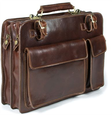 The 'Fabrizio' Handmade Italian Leather Briefcase (LBS685)