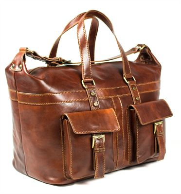 'Camino' Handmade Italian Leather Travel Bag (LBS688)