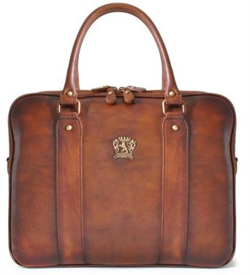 The Pratesi Handcrafted Twin Handle Leather Briefcase (LBS692)