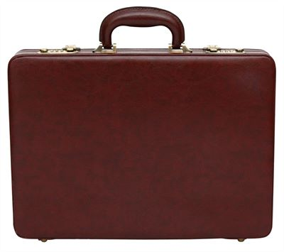 Slimline Attache Case in Faux Leather (LBS695)