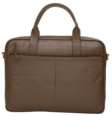 Slimline Textured Leather Business Bag (LBS697)