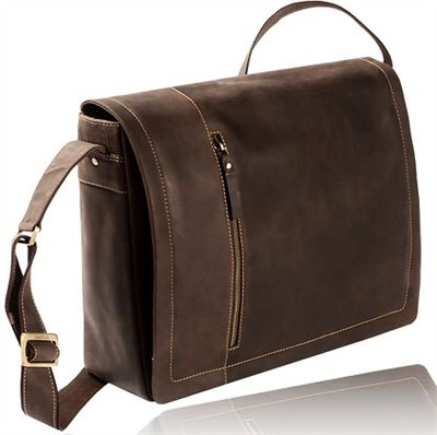 Distressed Leather Messenger Laptop Bag (LBS698)