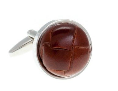 Leather Vintage Button Cufflinks (LBS804)