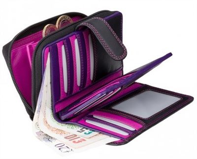 Womens Multi-Section Leather Wallet (LBS678)