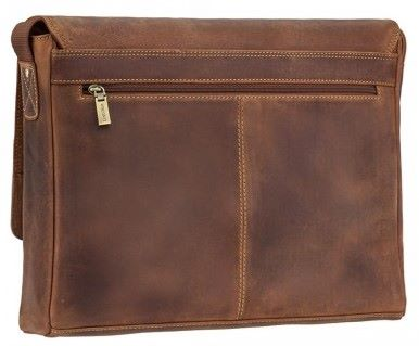 Leather Messenger Bag in Distressed Leather (LBS977)