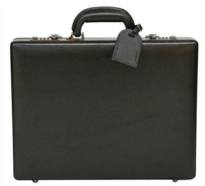 Cowhide Leather Slimline Attache Case (LBS913)