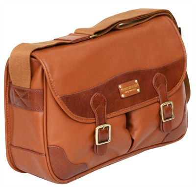 Lightweight Leather Messenger Bag (LBS838)