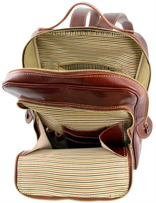 'Bangkok' Handmade Italian Leather Laptop Backpack  (LBS975)