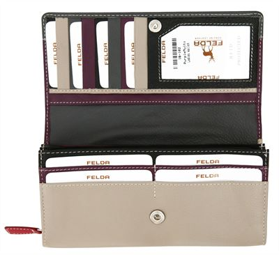 Contemporary Leather Purse (LBS867)