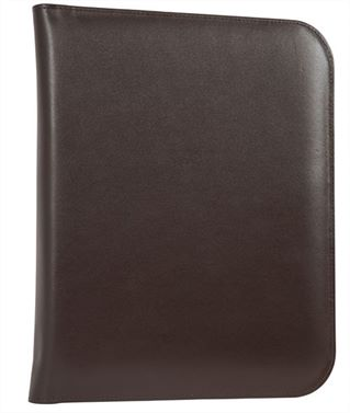 The 'Mayfair' Premium Leather Zipped Folio by Laurence London (LBS850)