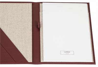 The 'Brompton' Premium Leather A4 Folder by Laurence London (LBS848)