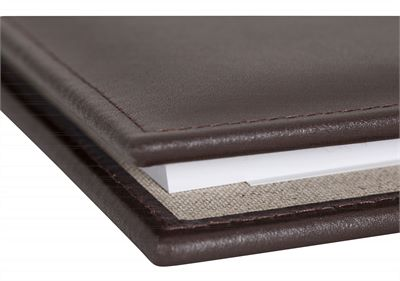The 'Brompton' Premium Leather A4 Folder by Laurence London (LBS847)