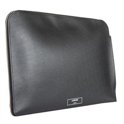 The 'Hampton' Premium Leather Document Case by Laurence London (LBS840)