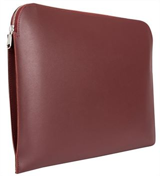 The 'Hampton' Premium Leather Document Case by Laurence London (LBS842)