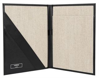 The 'Brompton' Premium Leather A4 Folder by Laurence London (LBS846)